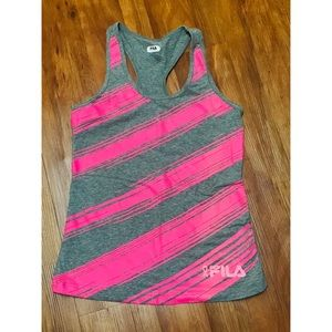 💍Ladies Fila racer top breast cancer addition